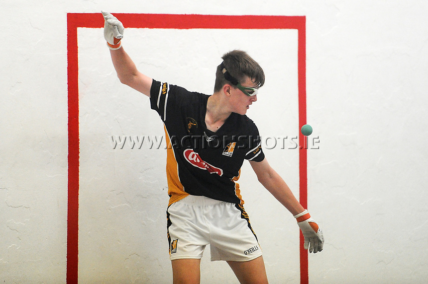 15/10/2017; All-Ireland Handball 60x30 Juvenile Finals; Garryhill Handball Club, Co Carlow;<br /> Boys Under-14 Singles, Kilkenny&rsquo;s Billy Drennan vs Rory Grace of Tipperary<br /> Photo Credit: actionshots.ie/Tommy Grealy