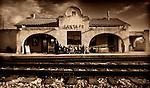 pvc011609D/venue.  Photo illustration of the Santa Fe train station photographed Thursday January 15, 2009.  (Pat Vasquez-Cunningham/Journal)