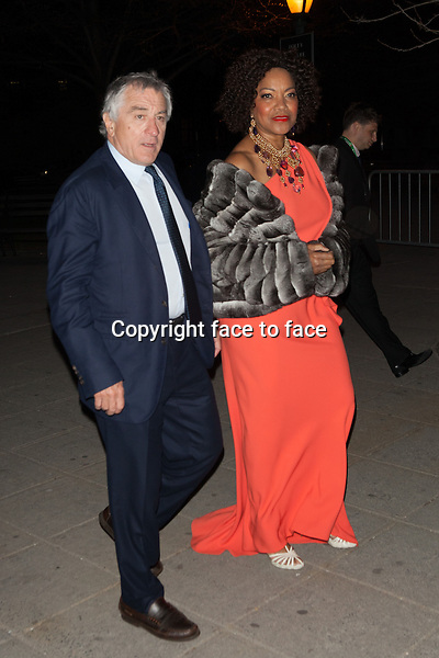 NEW YORK, NY - APRIL 23: Robert De Niro and Grace Hightower attend the Vanity Fair Party during the 2014 Tribeca Film Festival on April 23, 2014 in New York City.<br />