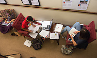 Occidental College students use the Mary Norton Clapp Library/Academic Commons  to study for finals, May 6, 2013. (Photo by Marc Campos, Occidental College Photographer)