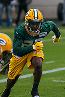 Green Bay Packers safety Kentrell Brice (29) during an Organized Team Activity on May 23, 2017 at Clarke Hinkle Field in Green Bay, Wisconsin.  (Brad Krause/Krause Sports Photography)