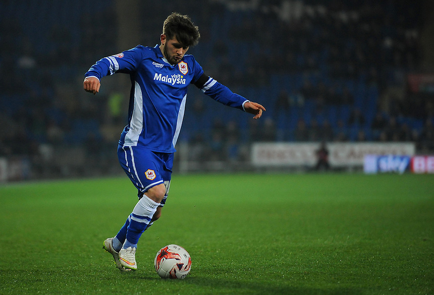 Cardiff City's Matthew Kennedy in action during todays match  <br /> <br /> Photographer Kevin Barnes/CameraSport<br /> <br /> Football - The Football League Sky Bet Championship - Cardiff v Bournemouth - Tuesday 17th March 2015 - Cardiff City Stadium - Cardiff<br /> <br /> &copy; CameraSport - 43 Linden Ave. Countesthorpe. Leicester. England. LE8 5PG - Tel: +44 (0) 116 277 4147 - admin@camerasport.com - www.camerasport.com