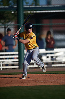 Chris Walsh (12) of Ukiah High School in Ukiah, California during the Baseball Factory All-America Pre-Season Tournament, powered by Under Armour, on January 13, 2018 at Sloan Park Complex in Mesa, Arizona.  (Mike Janes/Four Seam Images)