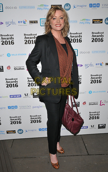 Laurie Brett attends the Broadcast Awards 2016, Grosvenor House Hotel, Park Lane, London, UK, on Wednesday 10 February 2016.<br /> CAP/CAN<br /> &copy;Can Nguyen/Capital Pictures