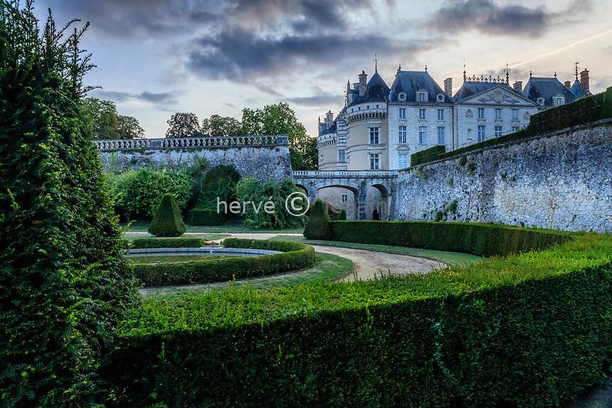 France, Sarthe (72), Le Lude, château et jardins du Lude, le jardin Bas