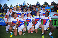 The France women's team after the Fast Four final against NZ on day two of the 2019 HSBC World Sevens Series Hamilton at FMG Stadium in Hamilton, New Zealand on Sunday, 27 January 2019. Photo: Dave Lintott / lintottphoto.co.nz