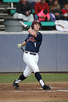 Phil Caufield (1) of the Loyola Marymount Lions bats against the Washington State Cougars at Page Stadium on February 26, 2017 in Los Angeles, California. Loyola defeated Washington State, 7-4. (Larry Goren/Four Seam Images)