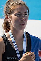 Rotterdam. Netherlands.  NZL LM1X. Zoe  MCBRIDE, Gold Medalist. Non Olympic Classes World Championships, Finals.  2016 JWRC, U23 and Non Olympic Regatta. {WRCH2016}  at the Willem-Alexander Baan.   Saturday  27/08/2016 <br /> <br /> [Mandatory Credit; Peter SPURRIER/Intersport Images]