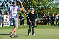 Cristie Kerr (USA) sinks her putt on 18 to force another playoff hole with Haru Nomura (JPN) during round 4 of  the Volunteers of America Texas Shootout Presented by JTBC, at the Las Colinas Country Club in Irving, Texas, USA. 4/30/2017.<br /> Picture: Golffile | Ken Murray<br /> <br /> <br /> All photo usage must carry mandatory copyright credit (&copy; Golffile | Ken Murray)