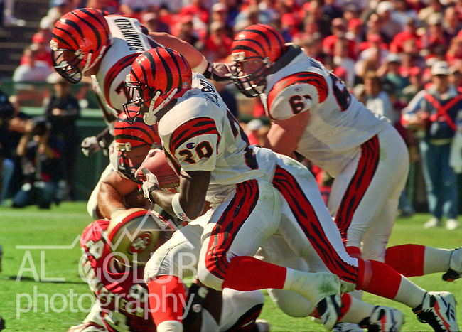 San Francisco 49ers vs. Cincinnati Bengals at Candlestick Park Sunday, October 20, 1996.  49ers beat Bengals  28-21.  Cincinnati Bengals running back Garrison Hearst (20).