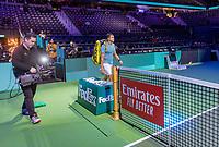 Rotterdam, The Netherlands, 13 Februari 2019, ABNAMRO World Tennis Tournament, Ahoy,  Jo-Wilfried Tsonga (FRA)   <br /> Photo: www.tennisimages.com/Henk Koster