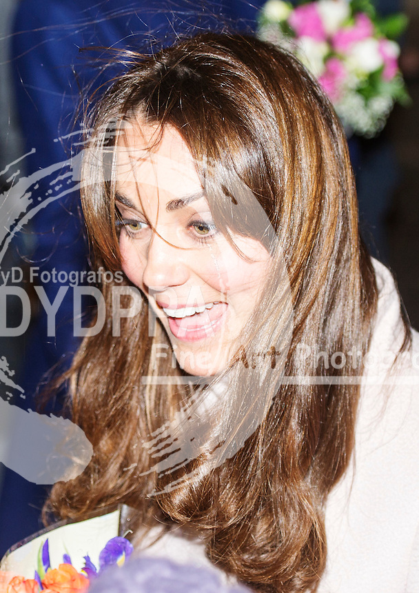 Duchess of Cambridge makes official visit to Peterborough City hospital, Peterborough, England, November 28, 2012. Photo by i-Images / DyD Fotografos