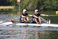 Race: 37  MasE.2x  Quarter-Final<br /> 109  Walton Rowing Club<br /> 113  Chinook Performance Racing, USA<br /> <br /> Henley Masters Regatta 2018 - Friday<br /> <br /> To purchase this photo, or to see pricing information for Prints and Downloads, click the blue 'Add to Cart' button at the top-right of the page.