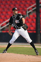 Starting pitcher Duke Welker (21) of the Hickory Crawdads in action at L.P. Frans Stadium in Hickory, NC, Sunday, August 17, 2008.