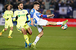 CD Leganes' Unai Bustinza (r) and Getafe CF's Jorge Molina during La Liga match. January 17,2020. (ALTERPHOTOS/Acero)