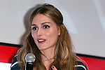 American socialite Olivia Palermo speaks to the audience during the ''ELLE Women in Society'' event on July 13, 2015, Tokyo, Japan. The event promotes the working women's roll in Japanese society with various seminars where top businesswomen, musicians, writers and other international celebrities speak about the working women's roll in the world. By 2020 Prime Minister Shinzo Abe's administration aims to increase the percentage of women in leadership positions to 30% in Japan. (Photo by Rodrigo Reyes Marin/AFLO)