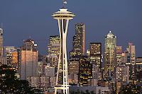 skyline from Queen Anne hill, Seattle, WA