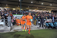 Jaguares captain Joaquin Tuculet leads his team out for the Super Rugby match between the Chiefs and Jaguares at Rotorua International Stadum in Rotorua, New Zealand on Friday, 4 May 2018. Photo: Dave Lintott / lintottphoto.co.nz