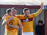 30.03.2019 Motherwell v St Johnstone: David Turnbull celebrates with Chris Cadden and Alan Campbell