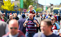Burnley fans arrive at Turf Moor<br /> <br /> Photographer Alex Dodd/CameraSport<br /> <br /> The Premier League - Burnley v Arsenal - Sunday 12th May 2019 - Turf Moor - Burnley<br /> <br /> World Copyright © 2019 CameraSport. All rights reserved. 43 Linden Ave. Countesthorpe. Leicester. England. LE8 5PG - Tel: +44 (0) 116 277 4147 - admin@camerasport.com - www.camerasport.com