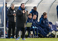 David Unsworth manager of Everton U23 during the U23 - Premier League 2 match between Tottenham Hotspur U23 and Everton at Tottenham Training Ground, Hotspur Way, England on 15 January 2018. Photo by Vince  Mignott / PRiME Media Images.