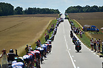 The peloton strung out during Stage 4 of the 104th edition of the Tour de France 2017, running 207.5km from Mondorf-les-Bains, Luxembourg to Vittel, France. 4th July 2017.<br /> Picture: ASO/Pauline Ballet | Cyclefile<br /> <br /> <br /> All photos usage must carry mandatory copyright credit (&copy; Cyclefile | ASO/Pauline Ballet)