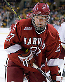 Michael Biega (Harvard - 27) - The Boston College Eagles defeated the Harvard University Crimson 6-0 on Monday, February 1, 2010, in the first round of the 2010 Beanpot at the TD Garden in Boston, Massachusetts.
