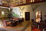 Interior of Palacio Chaves Hotel, historic medieval town of Trujillo, Caceres province, Extremadura, Spain
