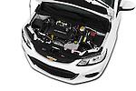 Car Stock 2017 Chevrolet Sonic LT 4 Door Sedan Engine  high angle detail view