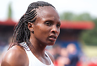 Hellen Obiri of Kenya after competing in the women's 3000m during the Muller Grand Prix  IAAF Diamond League meeting at Alexander Stadium, Perry Barr, Birmingham.<br /> Picture by Alan Stanford +44 7915 056117<br /> 18/08/2018