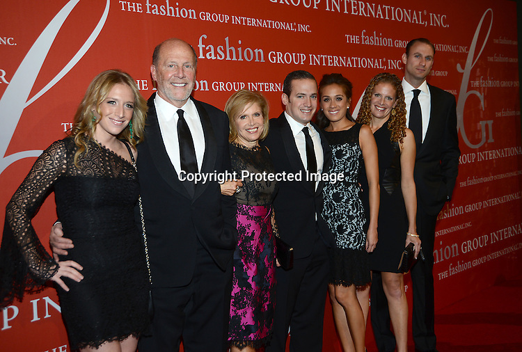 Lew and Bobbie Frankfort and family attends the Fashion Group International's Night of Stars Gala on October 22, 2013 at Cipriani Wall Street in New York City.