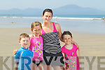 Ben, Emma, Caitriona and Rebecca Reilly, pictured having fun in the sun at Banna beach on Tuesday.