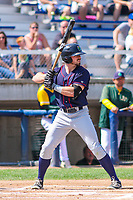 Cedar Rapids Kernels outfielder Jimmy Kerrigan (16) at bat during a Midwest League game against the Beloit Snappers on September 3, 2017 at Pohlman Field in Beloit, Wisconsin. Beloit defeated Cedar Rapids 3-2. (Brad Krause/Four Seam Images)