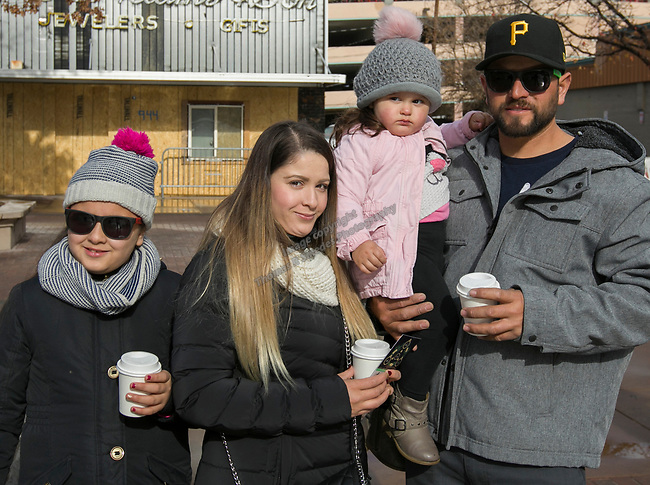 Emily, Griselda, Mia and Carlos the Sparks Hometowne Christmas Parade on Saturday, Dec. 1, 2018.