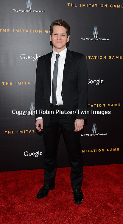 Graham Moore attends The US Premiere of &quot;The Imitation Game&quot; at the Ziegfeld Theatar in New York City on November 17, 2014.<br /> <br /> photo by Robin Platzer/Twin Images<br />  <br /> phone number 212-935-0770