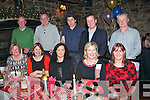 Optician Roger Harty, Boherbue, Tralee (back 2nd Rt) treated his staff to some fine food in Finnigan's, Tralee last Saturday night (seated) l-r: Noreen O'Brien, Mary Ciepierski, Joan Dillane, Bríd Murphy and Theresa Shanahan. Back l-r: John O'Brien, Joe Ciepierski, Brendan Shanahan, Roger Harty and PJ Shanahan.