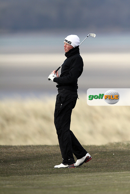 Robin Dawson (Faithlegg) on the 12th during Monday's Quarter Final of the Matchplay at the West of Ireland Amateur Open Golf Championship 2013 at Co.Sligo Golf Club, Rosses Point, Co.Sligo. 1/04/2013...(Photo Jenny Matthews/www.golffile.ie)