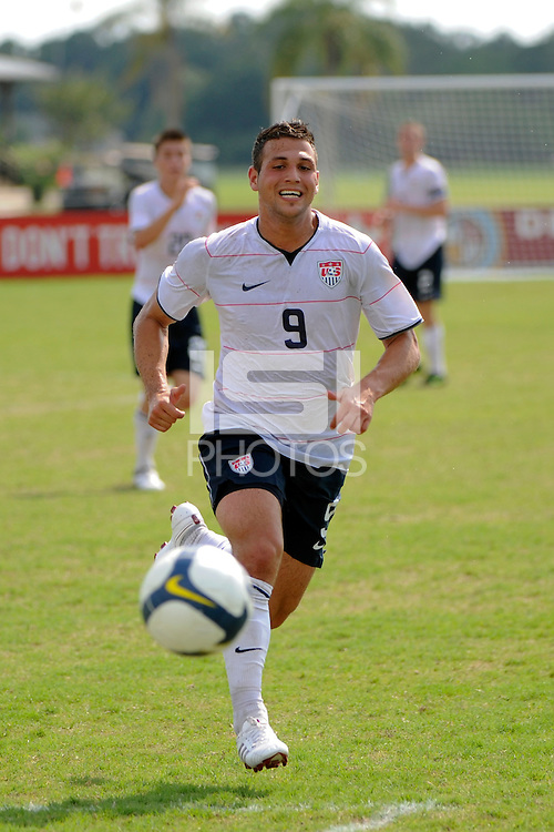 Peri Marosevic (9) of the USA. The US U-20 Men's National Team defeated the U-20 Men's National Team of Costa Rica 2-1 in an international friendly during day four of the US Soccer Development Academy  Spring Showcase in Sarasota, FL, on May 25, 2009.