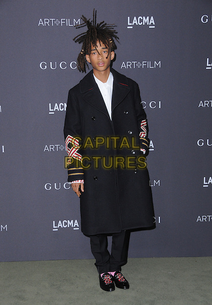 29 October 2016 - Los Angeles, California. Jaden Smith. 2016 LACMA Art+Film Gala honoring Robert Irwin and Kathryn Bigelow presented by Gucci held at LACMA.   <br /> CAP/ADM/BT<br /> &copy;BT/ADM/Capital Pictures