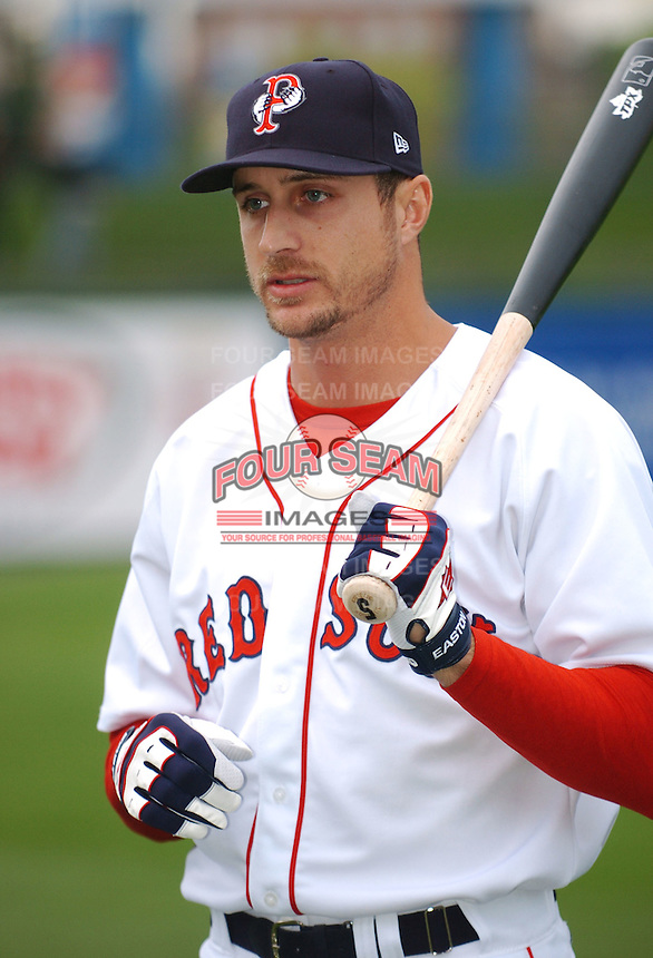Boston Red Sox OF Rocco Baldelli  in a rehab appearance with the AAA Pawtucket Red Sox of the International League at McCoy Stadium in Pawtucket, RI 5-4-09 (Photo by Ken Babbitt/Four Seam Images)