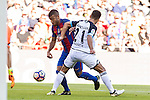 FC Barcelona's Rafinha Alcantara and Deportivo de La Coru?a's Bruno Gama during the La Liga match between Futbol Club Barcelona and Deportivo de la Coruna at Camp Nou Stadium Spain. October 15, 2016. (ALTERPHOTOS/Rodrigo Jimenez)