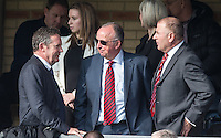 Stevenage Chairman Phil Wallace (left) pre match during the Sky Bet League 2 match between Wycombe Wanderers and Stevenage at Adams Park, High Wycombe, England on 12 March 2016. Photo by Andy Rowland/PRiME Media Images.