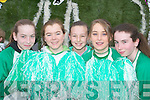 CHEERLEADERS: Killarney Celtic cheerleaders Niamh Gleeson, Claudia Buckley, Sinead Noctor, Julie Cronin and Lucy Egan at the St Patricks Day Parade in Killarney..