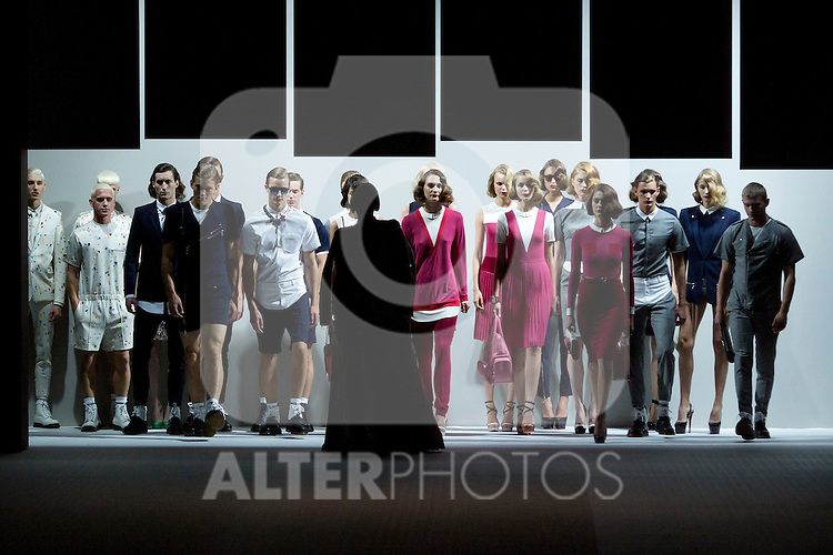 01.09.2012. Models walk the runway in the David Delfin  fashion show during the Mercedes-Benz Fashion Week Madrid Spring/Summer 2013 at Ifema. In the image Bimba Bose (Alterphotos/Marta Gonzalez)