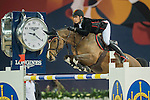 Nicola Philippaerts of Belgium riding Ustina Sitte during the Hong Kong Jockey Club Trophy competition, part of the Longines Masters of Hong Kong on 10 February 2017 at the Asia World Expo in Hong Kong, China. Photo by Juan Serrano / Power Sport Images