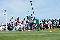 Brooks Koepka (USA) tees off the first hole during his final round of the 118th U.S. Open Championship at Shinnecock Hills Golf Club in Southampton, NY, USA. 17th June 2018.<br /> Picture: Golffile | Brian Spurlock<br /> <br /> <br /> All photo usage must carry mandatory copyright credit (&copy; Golffile | Brian Spurlock)