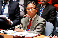 Japanese Ambassador to the United Nations Motohide Yoshikawa  attends a meeting with Members of the Security Council related to the precarious security situation in Mali, at the United Nations Headquarter in New York, 01/11/2016 Photo by VIEWpress