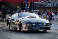 Jun. 15, 2012; Bristol, TN, USA: NHRA pro mod driver Leah Pruett during qualifying for the Thunder Valley Nationals at Bristol Dragway. Mandatory Credit: Mark J. Rebilas-