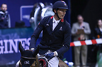OMAHA, NEBRASKA - MAR 30: Kevin Staut rides Reveur de Hurtebise H D C during the FEI World Cup Jumping Final I at the CenturyLink Center on March 30, 2017 in Omaha, Nebraska. (Photo by Taylor Pence/Eclipse Sportswire/Getty Images)
