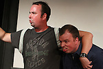 The Riot Act at Sketchfest NYC, 2011. UCB Theatre. Kevin Chesley, Jay Dugre, and Dusty Warren.